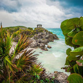 God of Winds Temple at Tulum in Mexico — Stock Photo