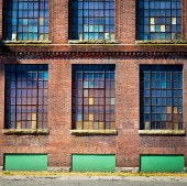 Brick Building Exterior — Stockfoto