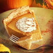 Pumpkin Pie, instagram filter style — Stock Photo