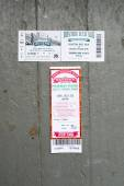 Season ticket holder tickets to both a  Red Sox vs. Marlins game and the Royal Rooters Club — Stock Photo