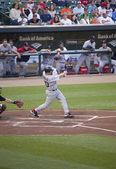 Kevin Youkilis taking swing at game — Stock Photo