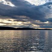 Bar Harbor at sunset — Stock Photo