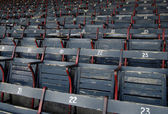 Old baseball stadium seats — Stock Photo