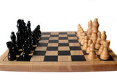 Chess board with figures — Stock Photo