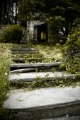 Staircase to stone building — Foto Stock