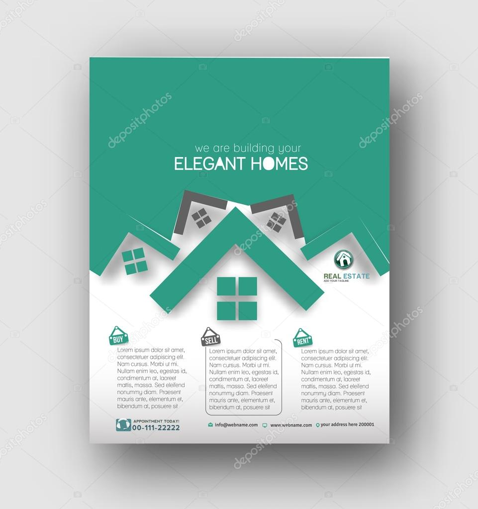 real estate agent flyer poster template stock vector real estate agent flyer poster template stock vector 119759586