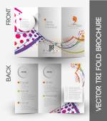 Tri-fold Brochure Design Element — Stockvector