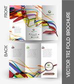 Tri-fold Brochure Design Element — Stock Vector
