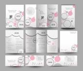 Beauty Care & Salon Stationery Design — ストックベクタ