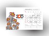 New Year Calendar 2015 — Stock Vector