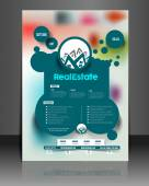 Real Estate Flyer & Poster Cover — Vector de stock