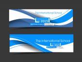 The International School Banner Template — Stock Vector