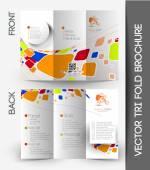 Elemento de diseño de folleto tríptico — Vector de stock