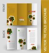 Три раза брошюра дизайн элемент — Cтоковый вектор