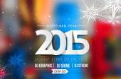 Happy new year 2015 Text Design — Stockvector