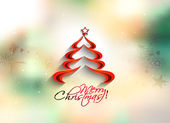Christmas tree in the blur background with space for text — Stock Vector