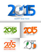 Happy new year 2015 Text Design — 图库矢量图片