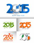 Happy new year 2015 Text Design — Vecteur