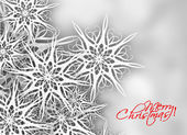 Christmas snow background with space for text — Vector de stock