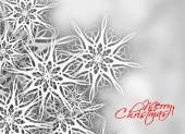 Christmas snow background with space for text — Vettoriale Stock