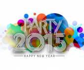 Happy new year 2015 Text Design — Stock Vector