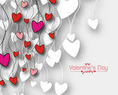 Valentine's day background, vector illustration. — Stock Vector