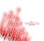 Valentine's Day Heart background — Vector de stock
