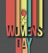 Happy Women's Day Design — Stock Vector