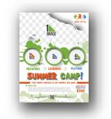 Summer Camp Flyer & Poster Template — Stock Vector