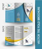 Travel Tri-Fold Brochure Design. — Stock Vector