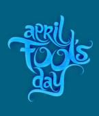 April fools day text design — Stock Vector
