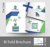 Corporate Business Bi-Fold Brochure — Stock Vector