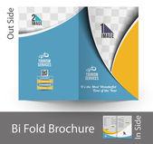 Travel Agencies Bi-Fold Brochure — Stock vektor