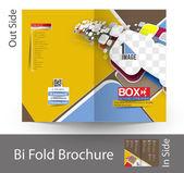 Online Videos Streaming Bi-Fold Brochure — Stock Vector