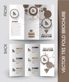 Jewelry Store Tri-Fold  Brochure — Stock vektor