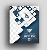 Jewelry Store Flyer — Stock vektor