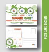 Summer Camp Postcard Design — Stock Vector