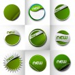 Collection of Styled Web Stickers — Stock Vector #76005471