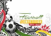 Événement de football affiche graphique Template — Vecteur