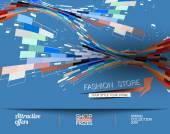 Manifesto di vendita di moda astratta — Vettoriale Stock