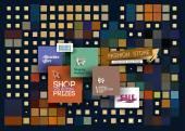 Абстрактные мода продажа плакат шаблон — Cтоковый вектор