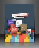 Shopping Center Store Flyer — Stock Vector
