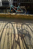 Shadow of bicycle — Stock Photo