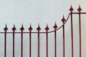 Iron fence — Foto Stock