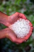 Balls of hail — Stock Photo