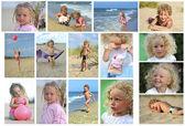 Dzieci nad morzem — Zdjęcie stockowe
