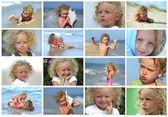 Crianças à beira-mar — Fotografia Stock