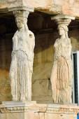 Caryatides, Erechtheion temple Acropolis in Athens — Stock Photo