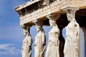 Caryatides na Akropol — Zdjęcie stockowe