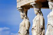 Caryatides at Acropolis — Stock Photo